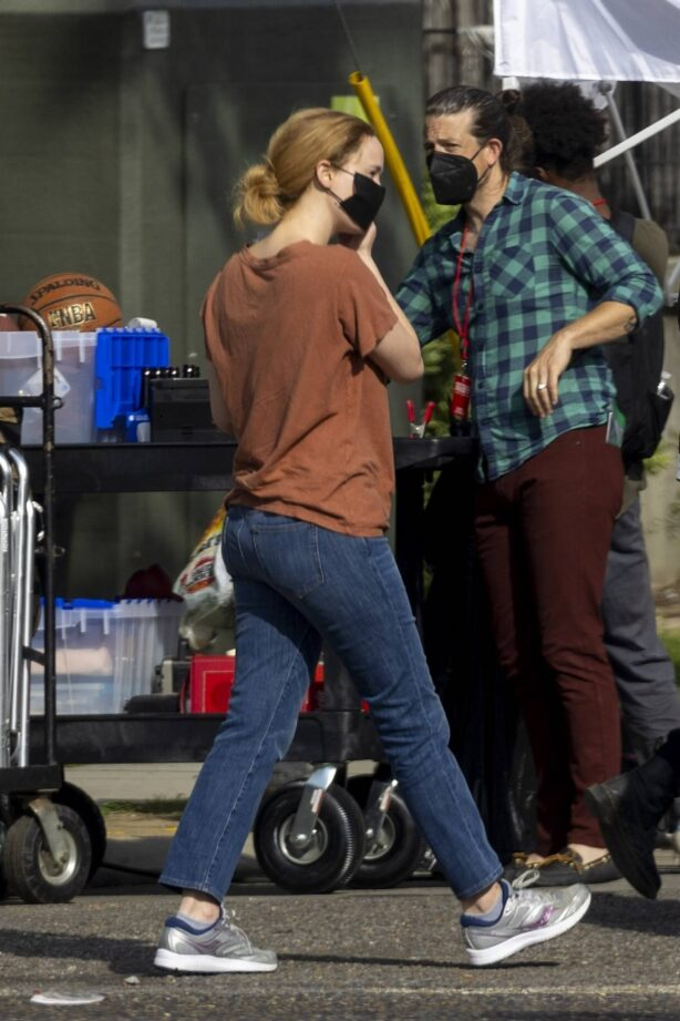 Jennifer Lawrence - films reshoots for her upcoming movie 'Red, White and Water' in New Orleans