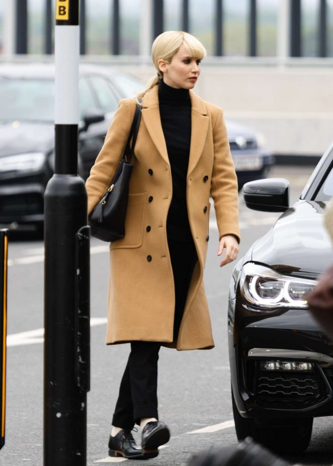 Jennifer Lawrence Films Scenes for her latest movie at Heathrow Airport Terminal 2 in London