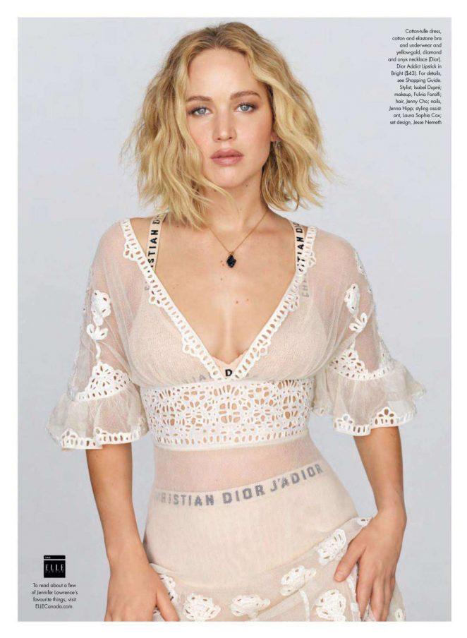Jennifer Lawrence for Elle Canada Magazine (October 2018)