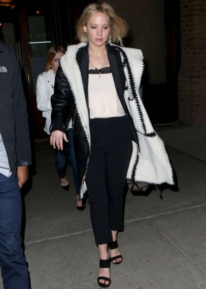 Jennifer Lawrence - Going to Hamilton on Broadway in NYC