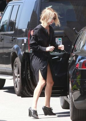 Jennifer Lawrence in Black Dress - Heads to a meeting in Beverly Hills