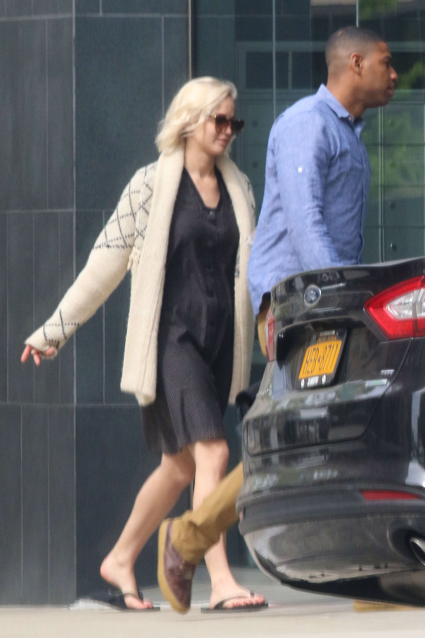 Jennifer Lawrence in Black Dress in NYC