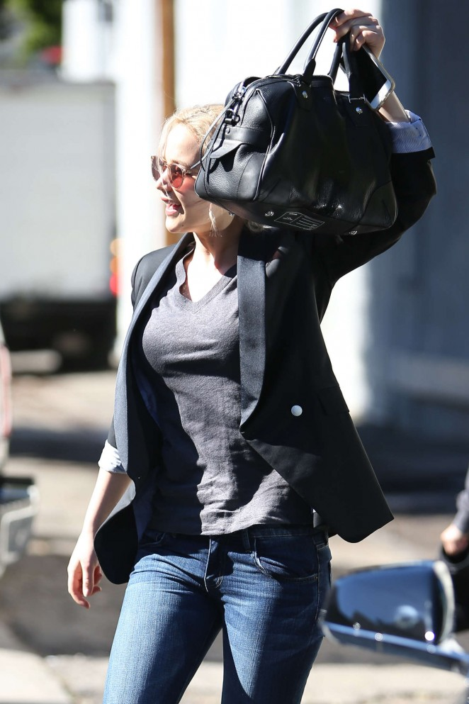 Jennifer Lawrence in Jeans out in Beverly Hills