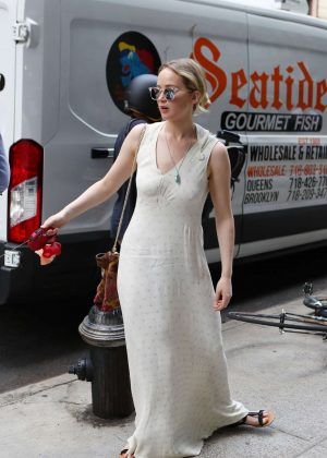 Jennifer Lawrence in Long Dress out in Manhattan