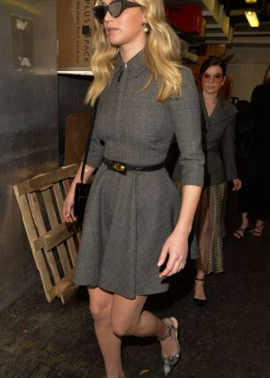 Jennifer Lawrence in Mini Dress - Out and about in Paris