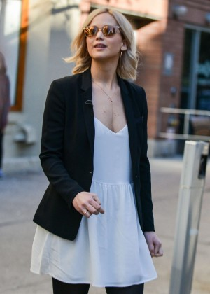 Jennifer Lawrence - Interview with Diane Sawyer in NYC