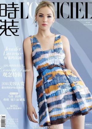 Jennifer Lawrence - L'Officiel China Cover (January 2016)