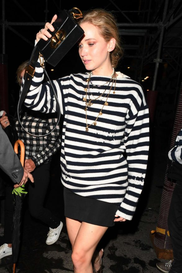 Jennifer Lawrence - Leaves Dior Beauty Dinner in Paris