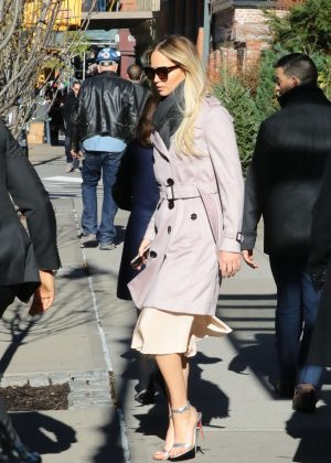 Jennifer Lawrence - Leaves her hotel in New York