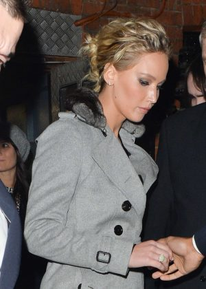 Jennifer Lawrence - Leaving Her Hotel in London