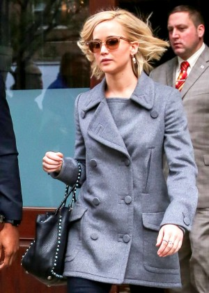Jennifer Lawrence - Leaving her hotel in NYC