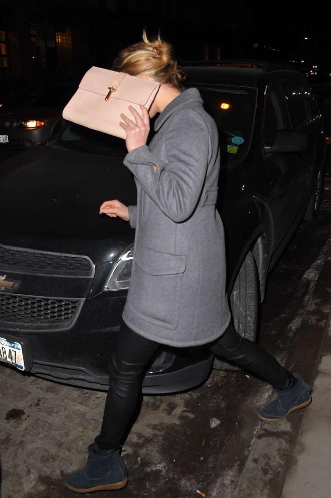 Jennifer Lawrence - Leaving Locanda Verde in NY