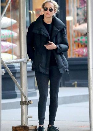 Jennifer Lawrence - Leaving pilates class in New York City