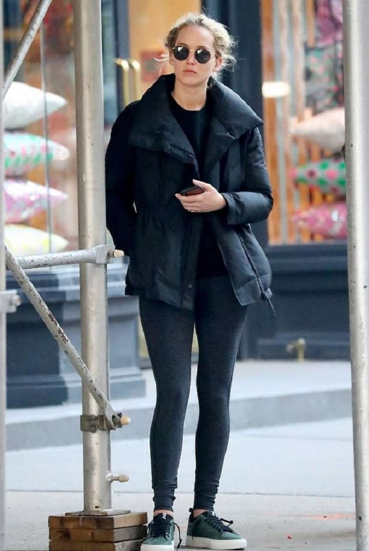 Jennifer Lawrence - Leaving pilates class in New York City