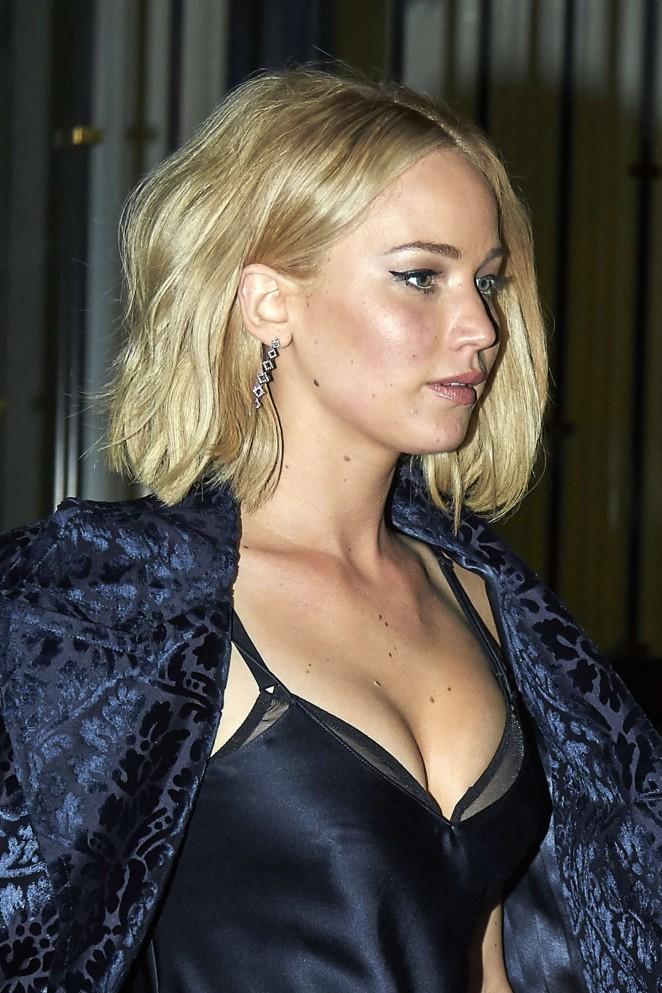 Jennifer Lawrence – Leaving the Asador Donostiarra in Madrid