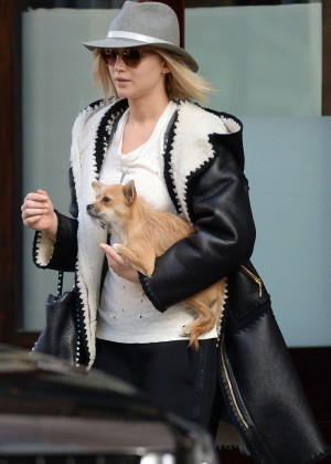 Jennifer Lawrence - Leaving the Greenwich Hotel in NYC