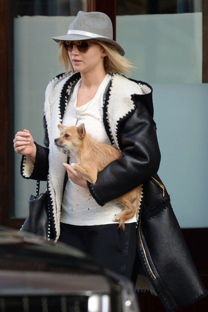 Jennifer Lawrence – Leaving the Greenwich Hotel in NYC