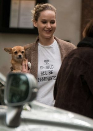 Jennifer Lawrence Leaving the set of 'Red Sparrow' in London