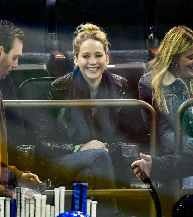Jennifer Lawrence - New York Rangers v Buffalo Sabres NHL Hockey Game in NY