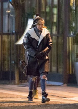 Jennifer Lawrence night out in Budapest