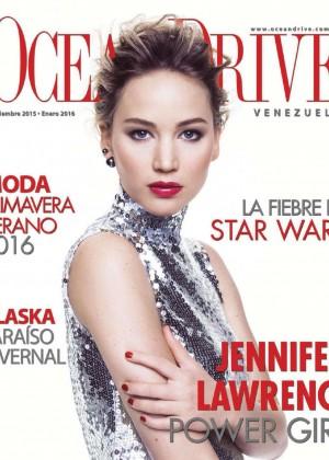 Jennifer Lawrence - Ocean Drive Venezuela (December 2015 January2016)