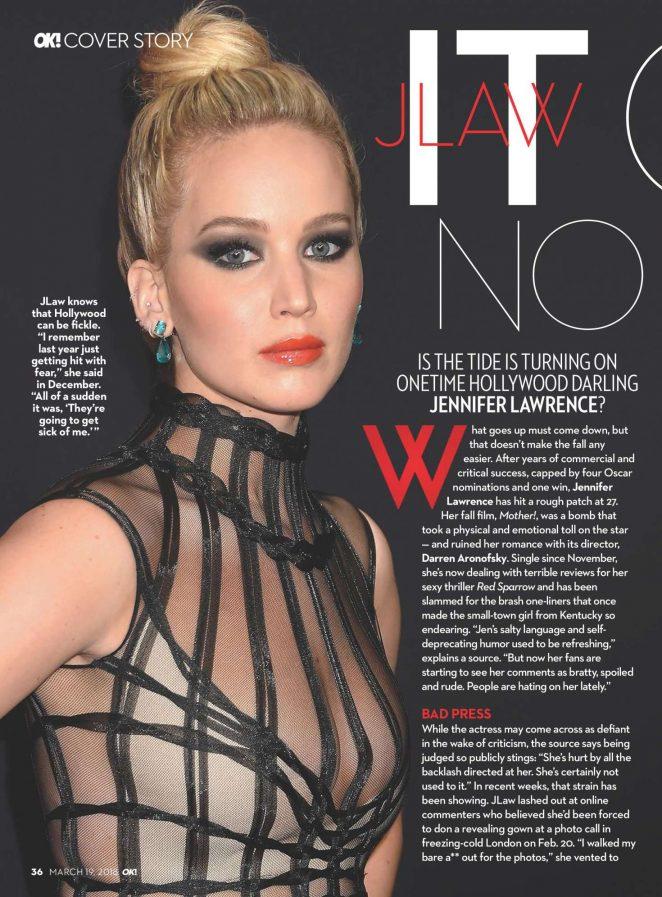 Jennifer Lawrence - OK US Magazine (March 2018)