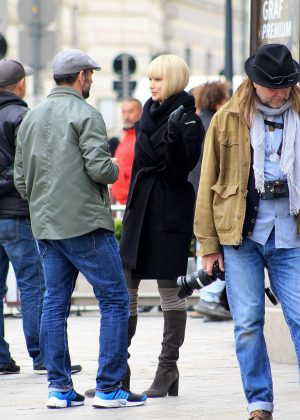 Jennifer Lawrence - On the set of Red Sparrow in Vienna
