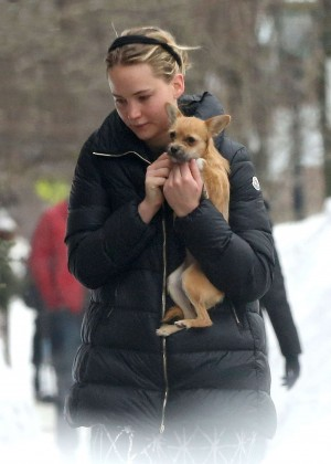 Jennifer Lawrence - Out and about in Boston