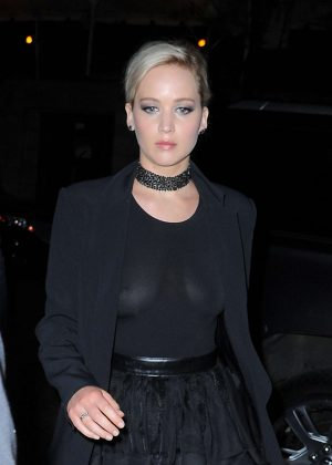 Jennifer Lawrence in Black out in Manhattan