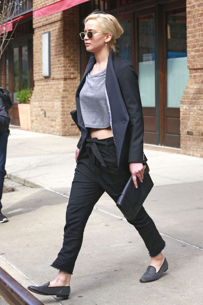 Jennifer Lawrence out and about in NY -05
