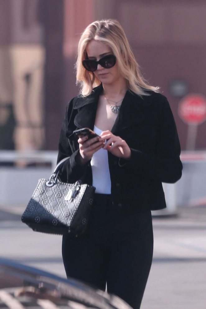 Jennifer Lawrence out in Westwood