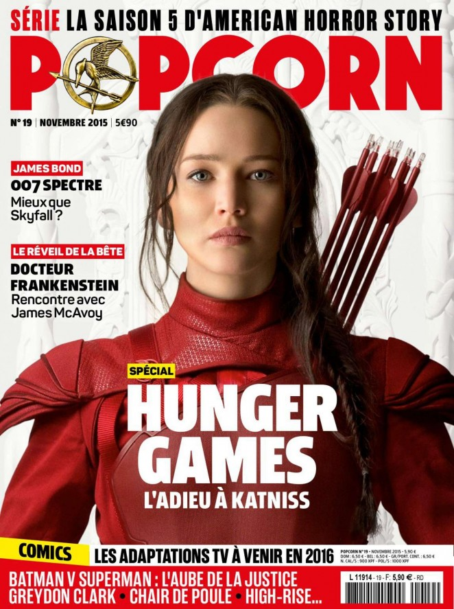 Jennifer Lawrence - Popcorn France Magazine (November 2015)