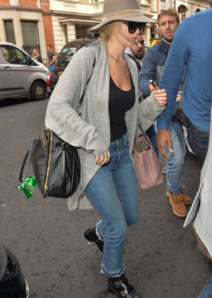 Jennifer Lawrence - Seen at her hotel in London