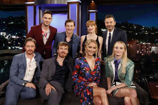 Jennifer Lawrence, Sophie Turner and Jessica Chastain - On 'Jimmy Kimmel Live' in LA