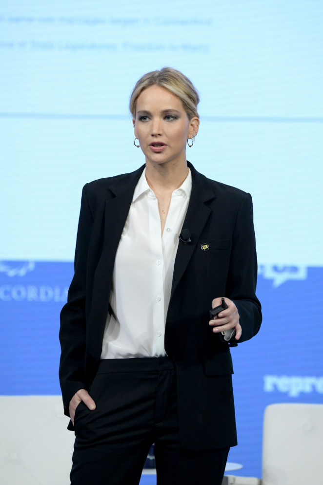 Jennifer Lawrence - Speaks onstage at 2018 Concordia Annual Summit in NYC