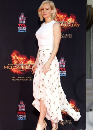 Jennifer Lawrence - The Hunger Games Imprint Ceremony in Hollywood