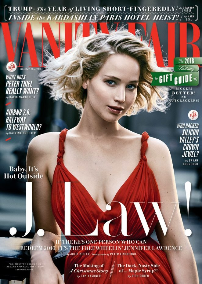 Jennifer Lawrence   Vanity Fair Magazine (Holiday 2016/2017)