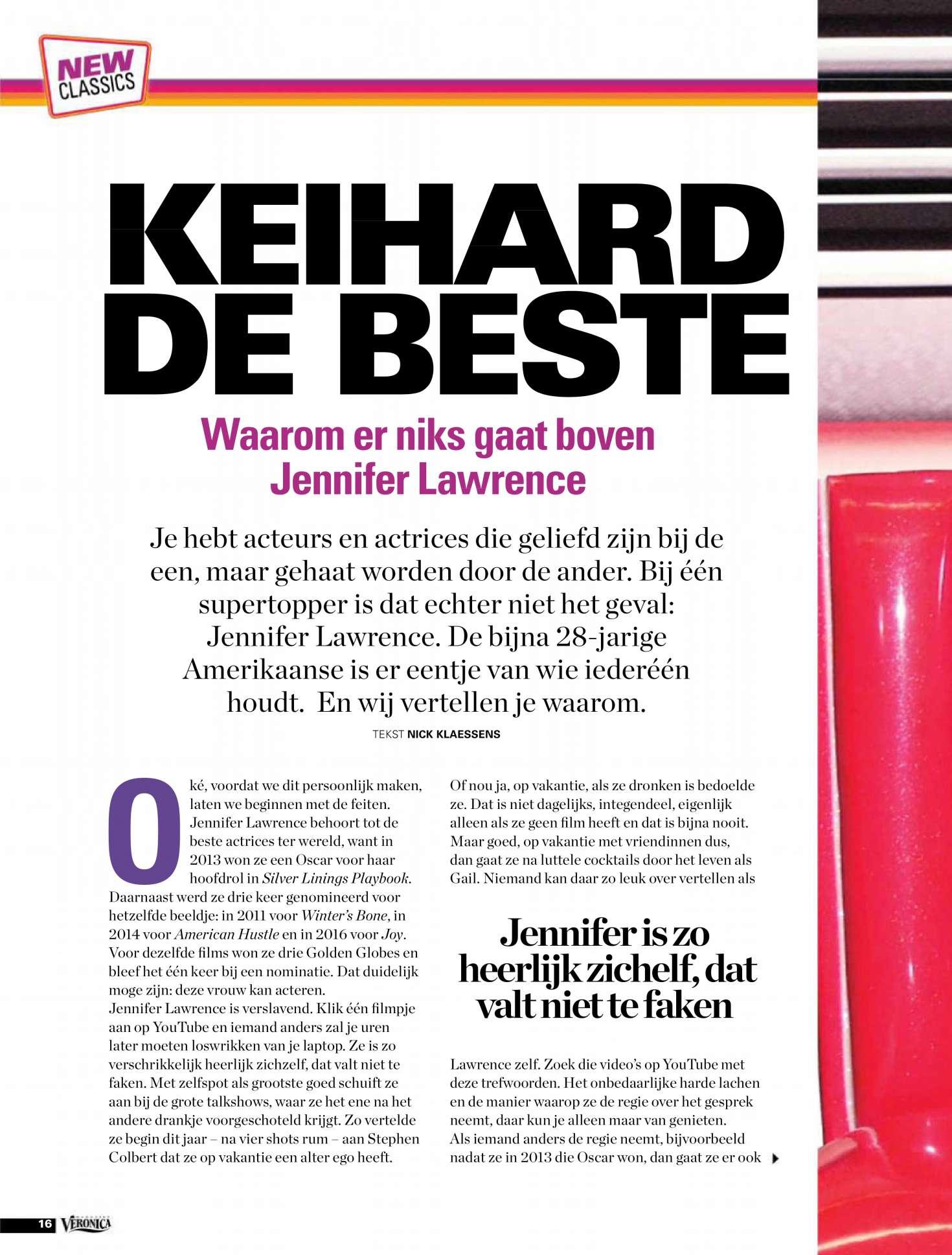 Extreem Jennifer Lawrence: Veronica Magazine 2018 -02 – GotCeleb &PY41