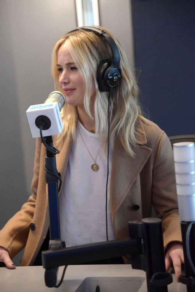 Jennifer Lawrence - Visits SiriusXM at SiriusXM Studios in NYC