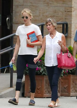 Jennifer Lawrence with her mother out in NYC
