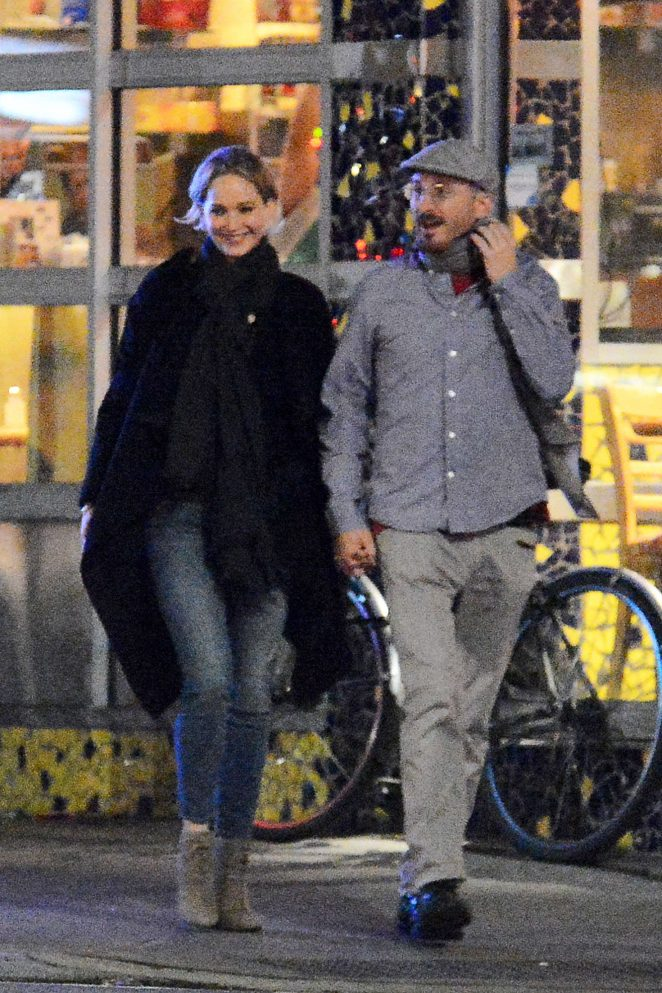 Jennifer Lawrence with new boyfriend Darren Aronofsky in New York