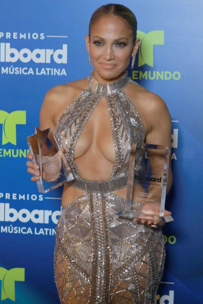 Jennifer Lopez after show at Billboard Latin Music Awards in Miami