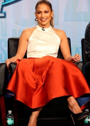 "Jennifer Lopez - ""American Idol"" Panel FOX 2015 Winter TCA Tour in Pasadena"