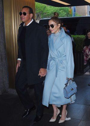 Jennifer Lopez and Alex Rodriguez - Arrives at NBC studios in New York