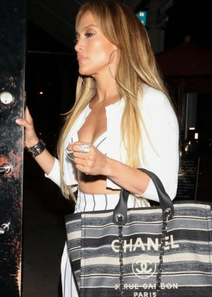Jennifer Lopez and Alex Rodriguez at Craig's restaurant in West Hollywood