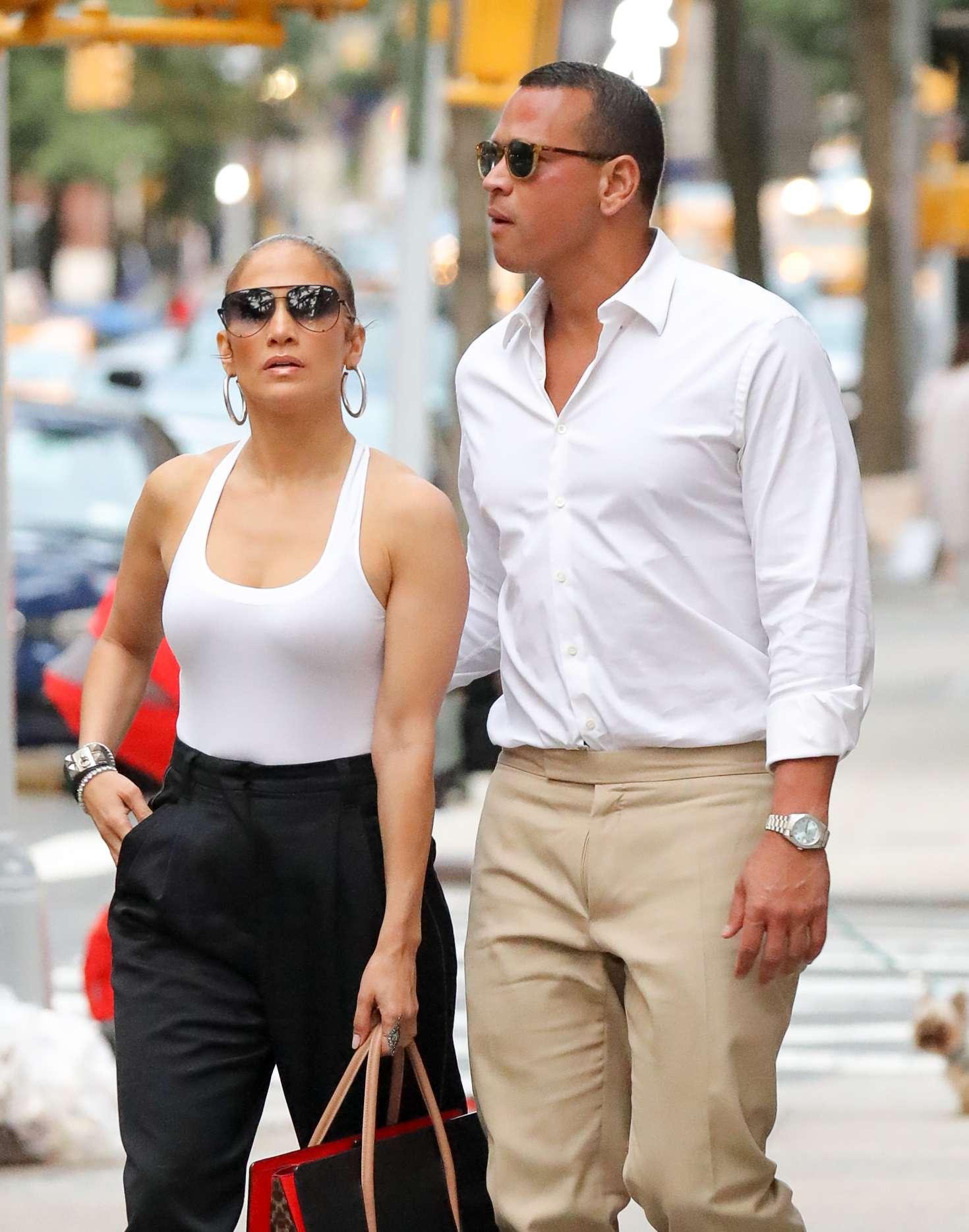 Jennifer Lopez and Alex Rodriguez at Kappo Masa Restaurant in NYC