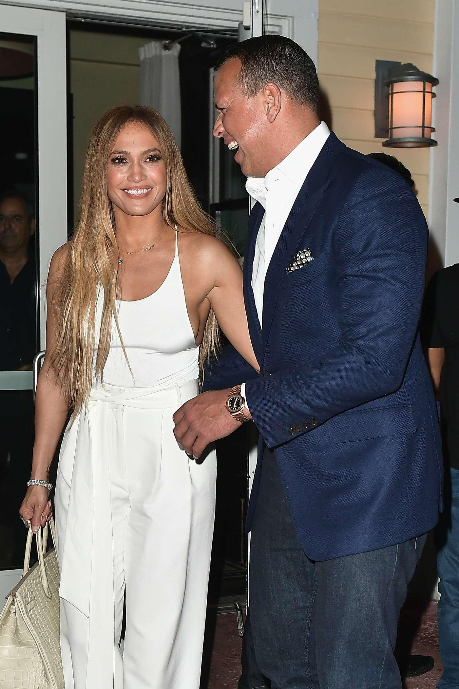 Jennifer Lopez and Alex Rodriguez at Prime 112 Restaurant in Miami