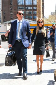 Jennifer Lopez and Alex Rodriguez at the Hudson Yards in NYC