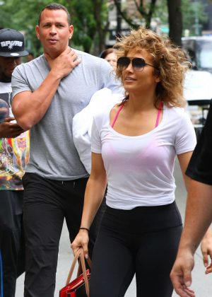Jennifer Lopez and Alex Rodriguez get in a gym in New York
