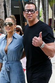 Jennifer Lopez and Alex Rodriguez - Head out to lunch in Miami
